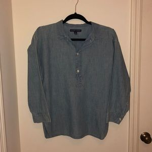 Ralph Lauren denim pullover tunic top size 10